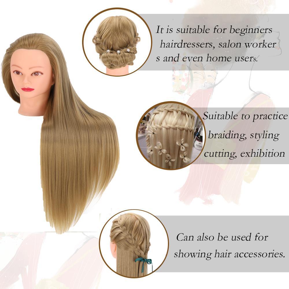 NEVERLAND 30inch головка манекена с волосами 76см Head куклы Синтетический манекена Hairdressing Styling Training Head причесок