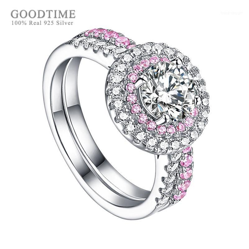 Luxury Ring For Women 925 Sterling Silver Zircon Bride Wedding Ring Rhinestone Engagement Jewelry Accessories For Girl Party1