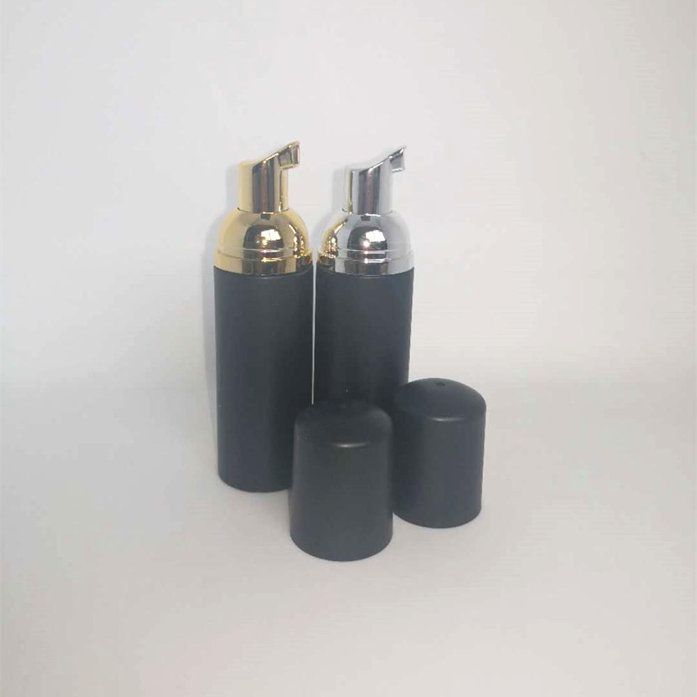 12PS 60ml Matt Black Пенопласт насос Refillable Слейте Матовый Косметические бутылки ресниц Cleanser мыла Шампунь бутылку