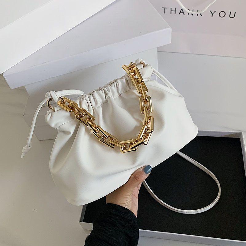 C1019 Kette Farbe Cross Gold Taschen Pu Frauen Solide Sommer Kleine Schulter Leder Weibliche Kreuzbody Für Handtaschen Körpertasche 2020 Ahmtk