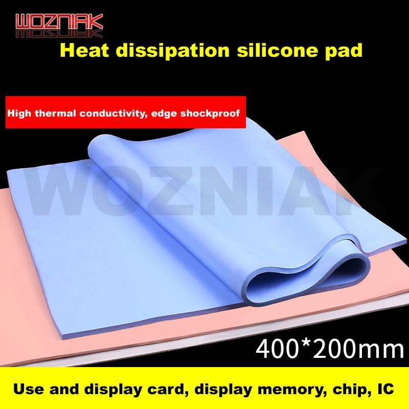Heat dissipation silicone pad Heat conductive silica gel sheet CPU Thermal silicone pad Laptop chip Sink Heatsink Cooling