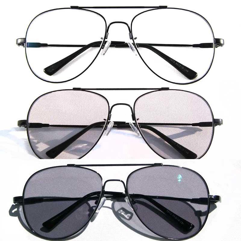 Фотохромные очки Мужчины моды очки сплава памяти Четкие Спектакли Изменить Sunglasses
