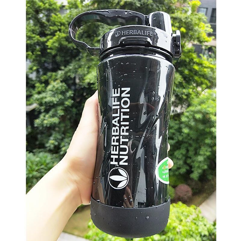 Новое Прибытие Высокое Качество 5 Candy Color 1000M1L 2000 мл 2L Портативное пространство Herbalife Nutrition Пользовательские ремни Соломенная бутылка воды Y200107