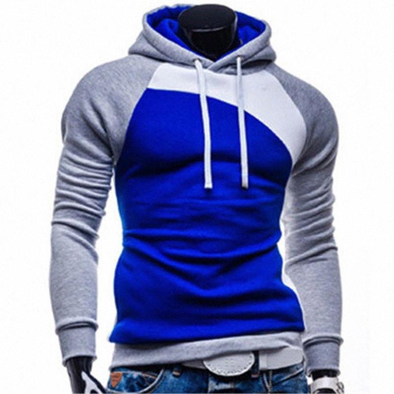2017 nuevo diseño para hombre Causal sudaderas con capucha, de manera masculino r prendas de vestir exteriores, hombre del chándal con capucha, tamaño M a 3XL MEfJ #