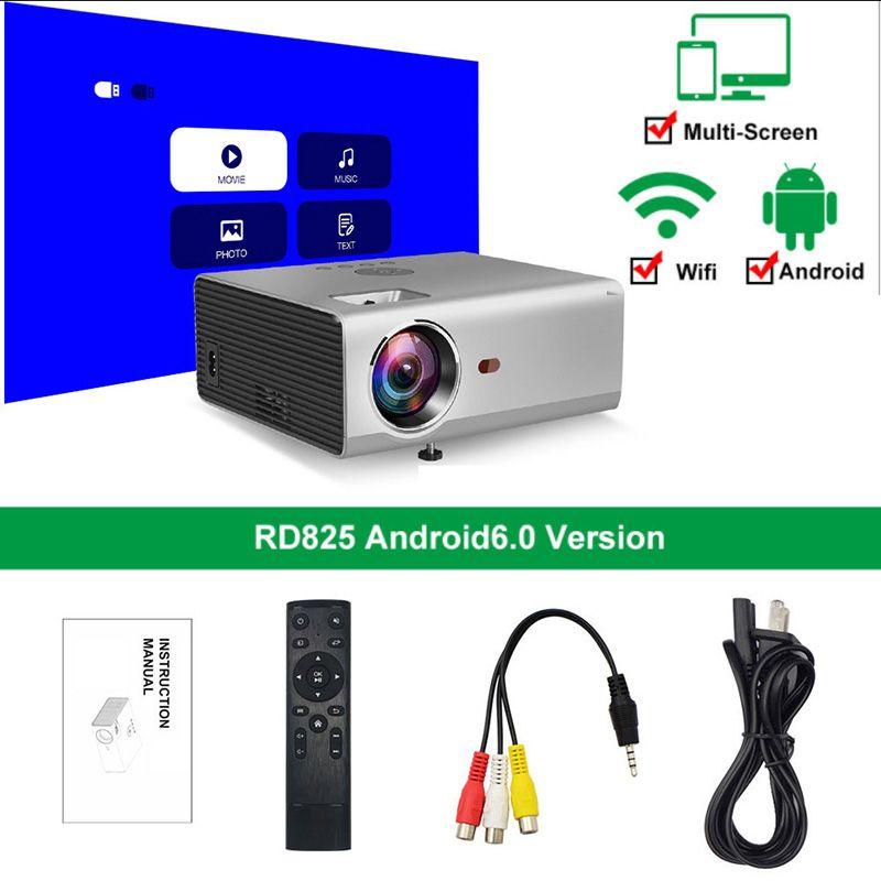 3500 Lümes Taşınabilir Projektör Mini 720 P LED Ev Sineması Projektör 1080 P 4 K 130 Inç Ekran Desteği Yan Projeksiyon Kullanışlı Projektör