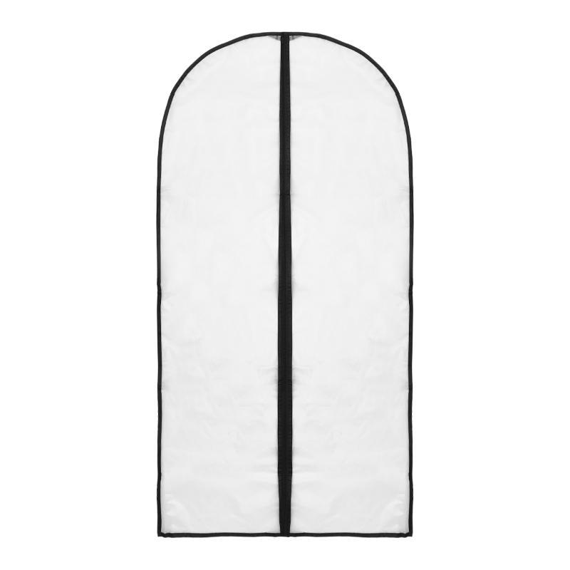 1PC Kleidung Staubschutz Hanging Organizer-transparenter Plastikkleidersack für Kleid unten oben
