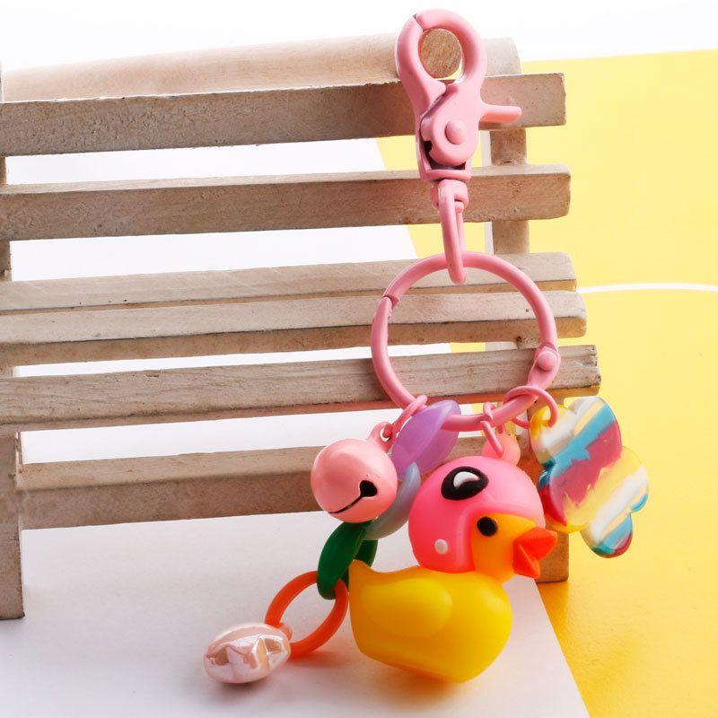 Sesame Street amarelo pequeno Pato Cadeia Stuffed Animal on-line celebridade Toy boneca de presente da decoração Key Plush Pendant Trill lindo presente