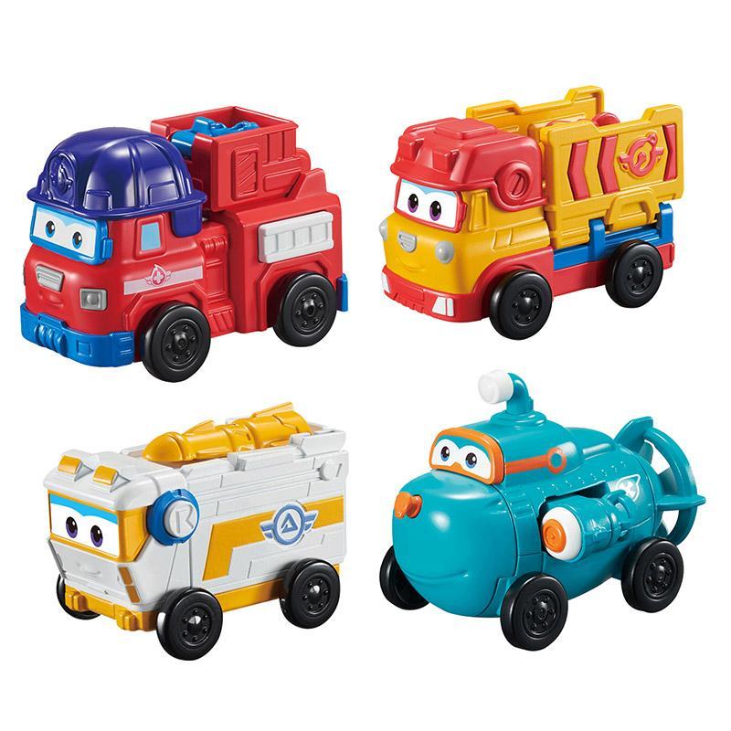 pc / Trasformazione Mini ABS Super ali di deformazione del robot giocattolo SPARKY / REMI / ROVER / WILLY Space Exploration Rescue camion Giocattoli