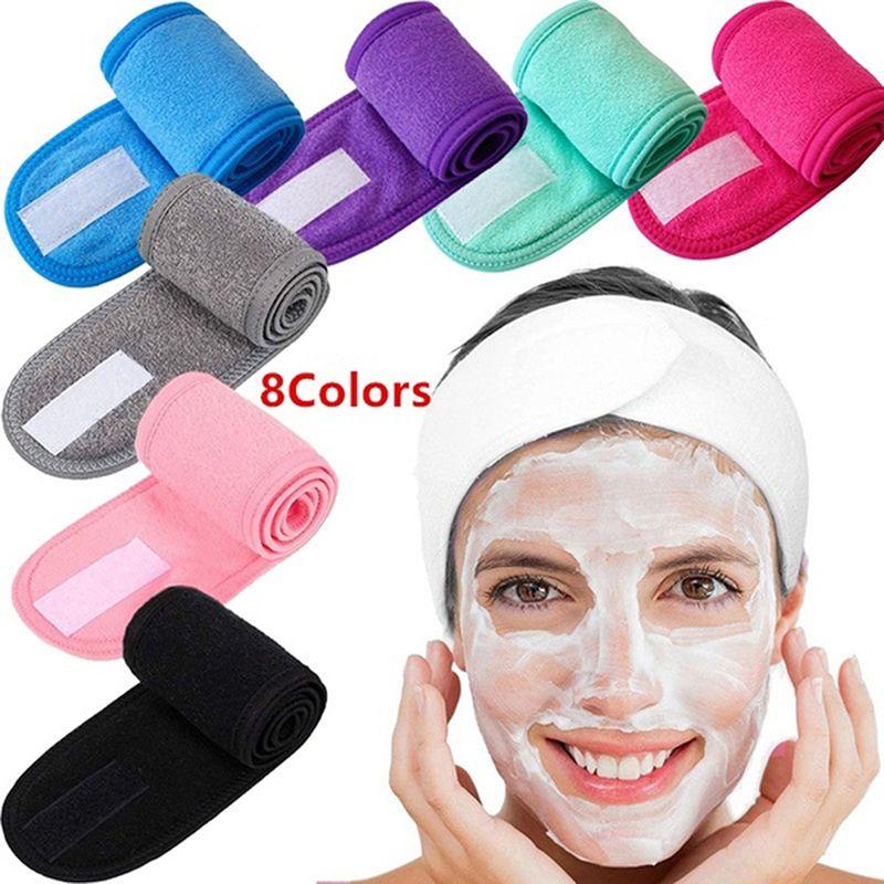 Kozmetik Wrap Türban Yüz Yıkama Ayarlanabilir Yoga Kadınlar Yüz Havlu Banyosu Hairband Makyaj Bantlar Spa Salon Aksesuarları