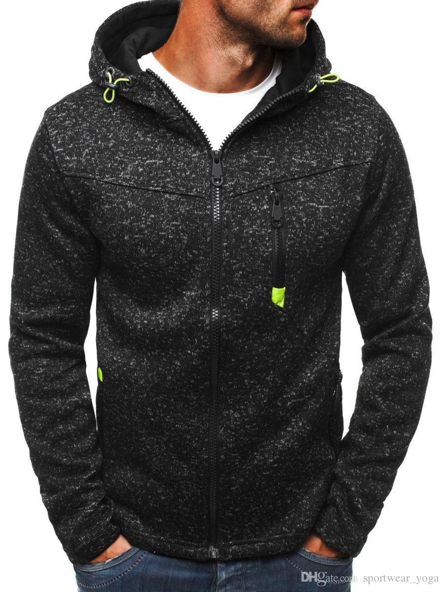 la moda streetwear con capucha diseñador sudaderas con capucha adolescente Ropa para hombre Drapeado otoño del resorte con capucha Hip Hop abrigos suéter más tamaño