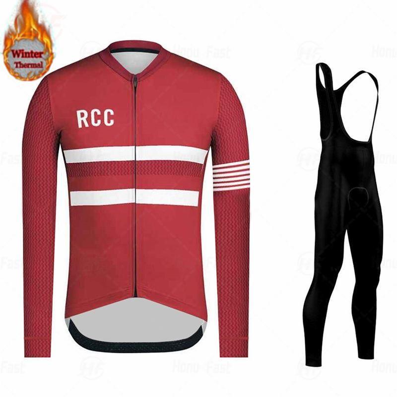 Raphaful Pro Team-Winter-thermisches Vlies-lange Hülse, die Jersey Set MTB Fahrrad Maillot Ropa Ciclismo Bike Kleidung Uniform
