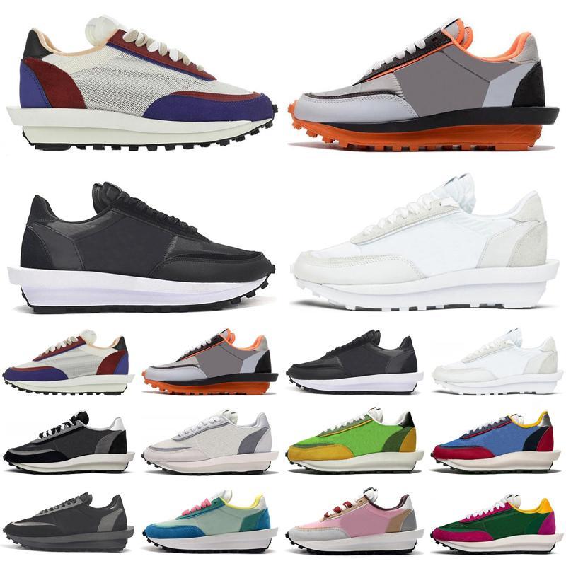 2020 Sacai Waffle LDV LD LDwaffle Homens Mulheres Sapatos Esportes Preto Branco Nylon Varsity Azul Mens Trainers Esportes Sneakers Corredores