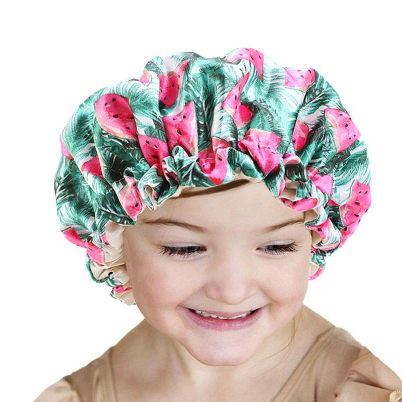 Ajustables sueño natural pelo rizado de seda encantadora linda bastante floral raso capo casquillo Wrap grande Rosa real cabeza masculina de la bufanda