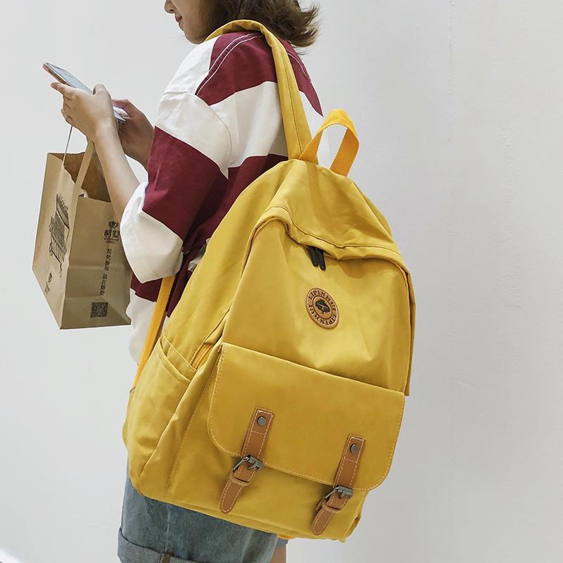 Sacchetto di scuola sveglio zaino Donne Varisized Fibbia tessuto di cotone per il Teenage Girl Kawaii zaino Harajuku femminile delle signore di sacchetto di lusso