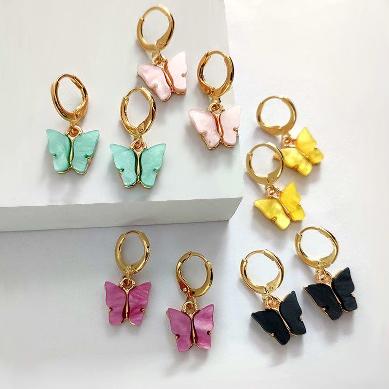 Fashion Brincos Drop Earrings for Women Colorful Acrylic Earring Party Jewelry Kolczyki Oorbellen Aretes Orecchini