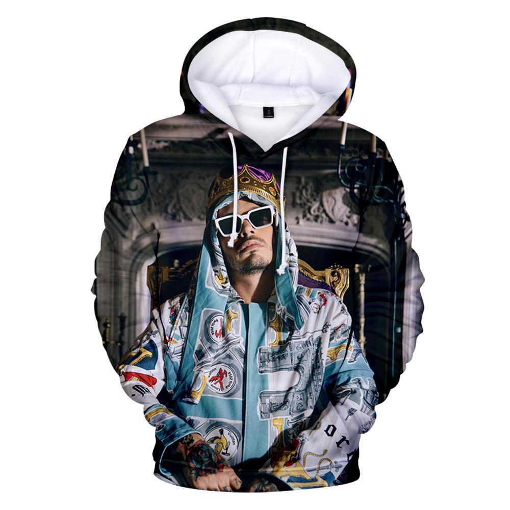 Новый J Balvin Fullshirts Мужчины Женщины Мода Популярные Толстовки Harajuku 3D Пуловер Мальчики Девочки Повседневная Куртка Пальто Одежда