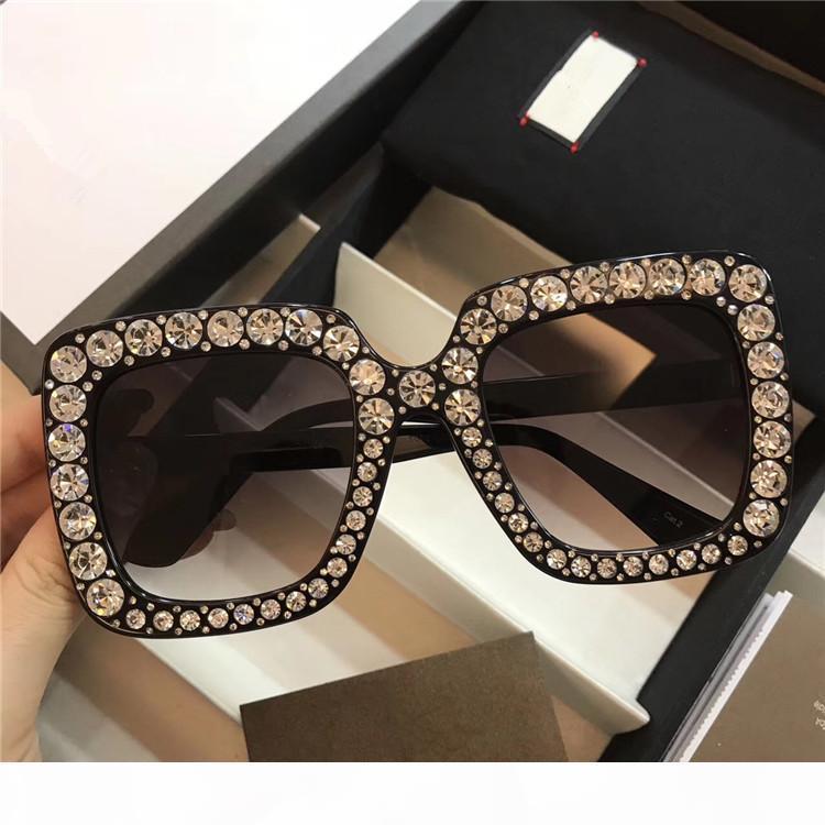 Fashion Italy Brand Luxury Sunglasses Donne Donne Donne 0148 Design con diamante GRANDE GRAFICA Occhiali da sole Top Quality Vieni con scatola originale
