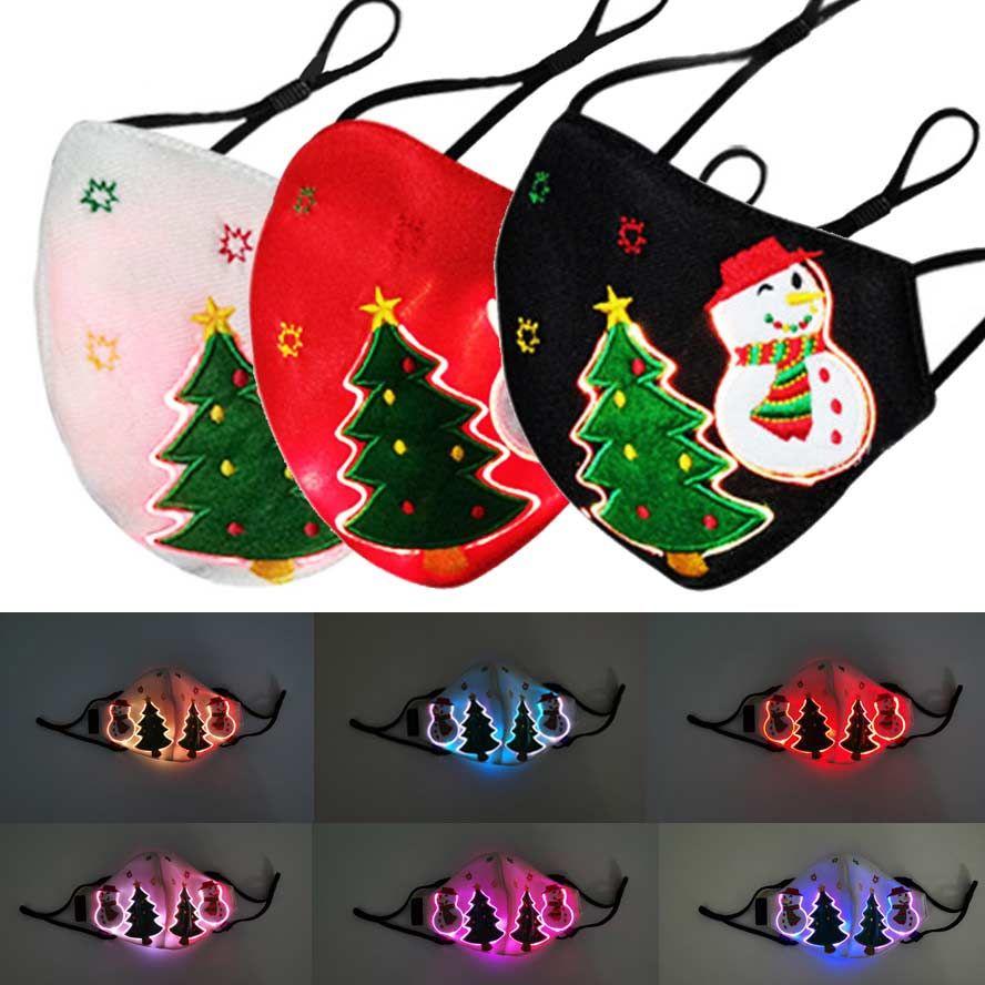 2021 Face Masque Designer Hommes Femmes Christmas De Noël Masques De Noël Tree Snowman Purge Blanc Blanc Coloré Bouche Facem