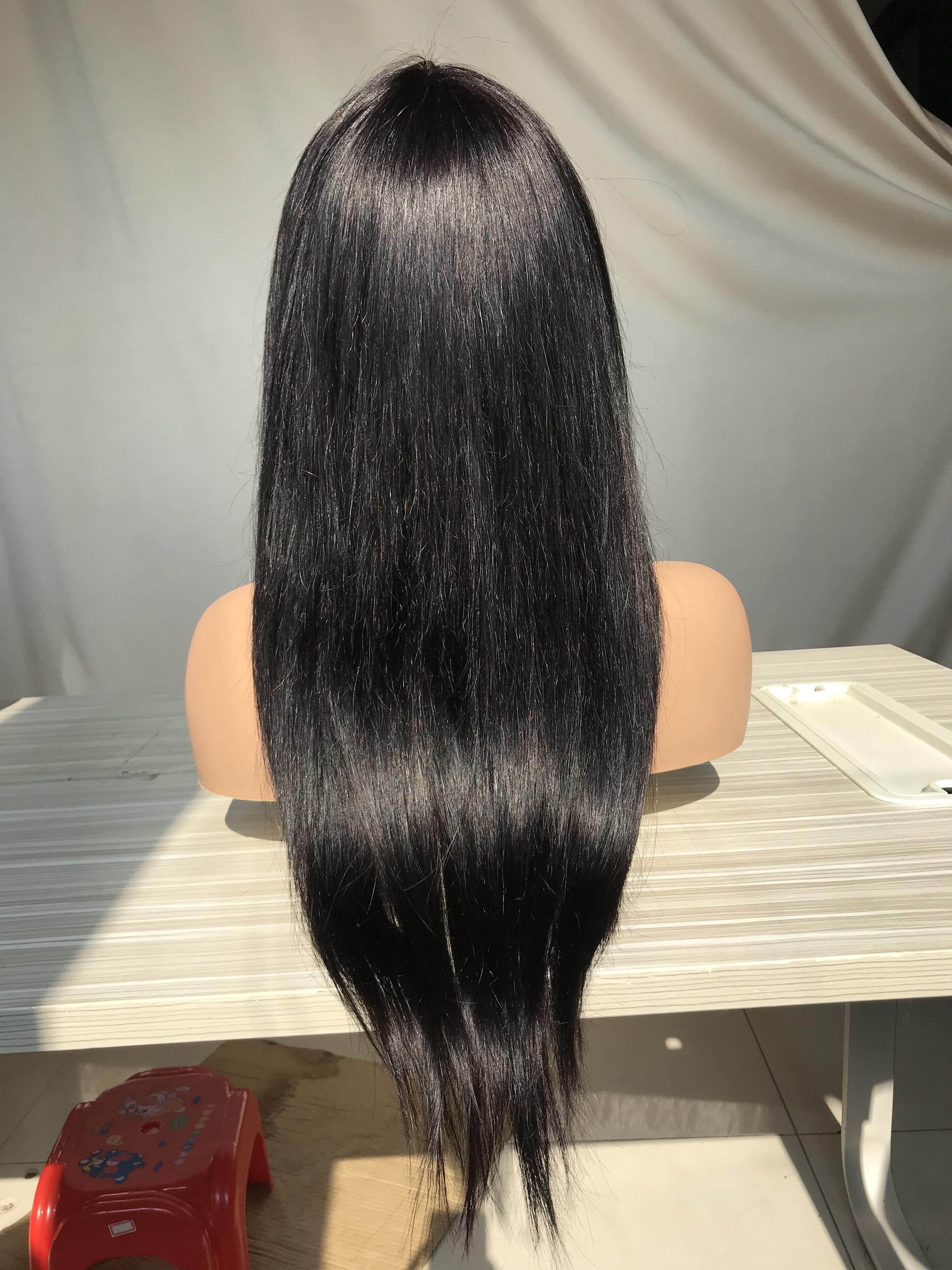 Menschenhaarperücken Bang Perücke ohne Verschluss gerade reines Menschenhaar Großhandel preiswerte Preisqualität menschliches Haar