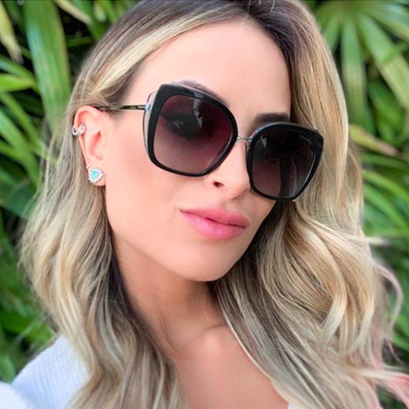 Rund polarisierte Myopie Sonnenbrillen Korrektionsbrillen Driving Gläser mit Dioptrien Objektiv für Moypia Arbeiten Sie Weinlese-Frauen-Sonnenbrille FML