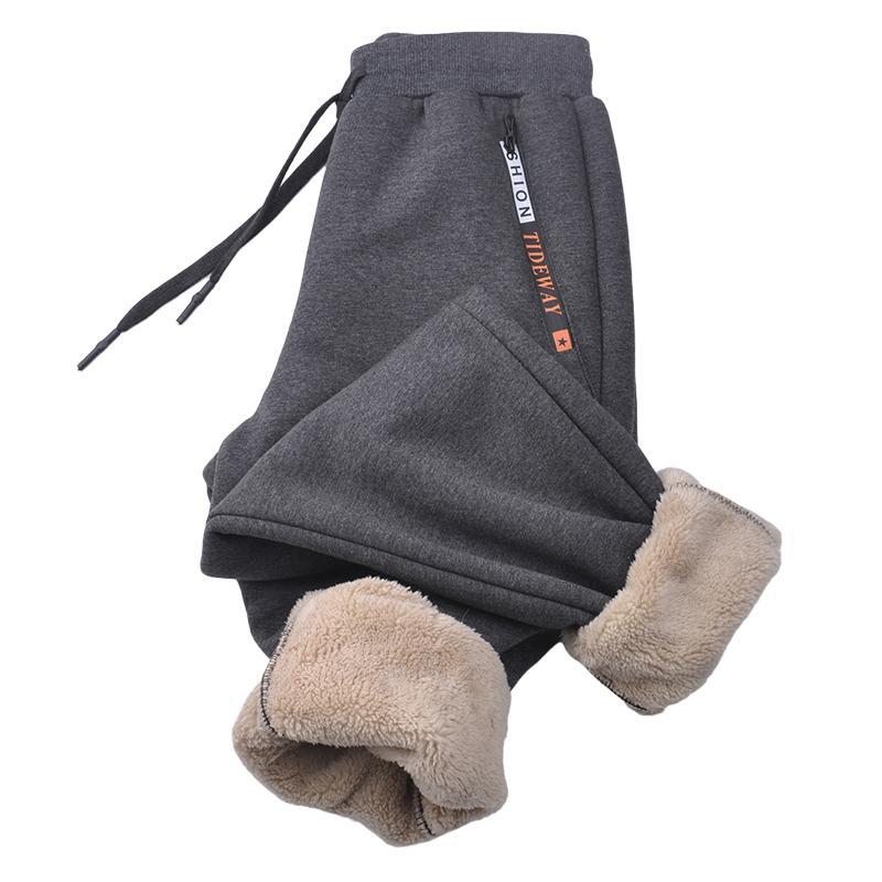 2020 NOUVEAU hiver épais en polaire chaude thermo-surprise hommes Joggers Sportswear Casual piste Pantalon plus taille 6xl 7xl 8xl