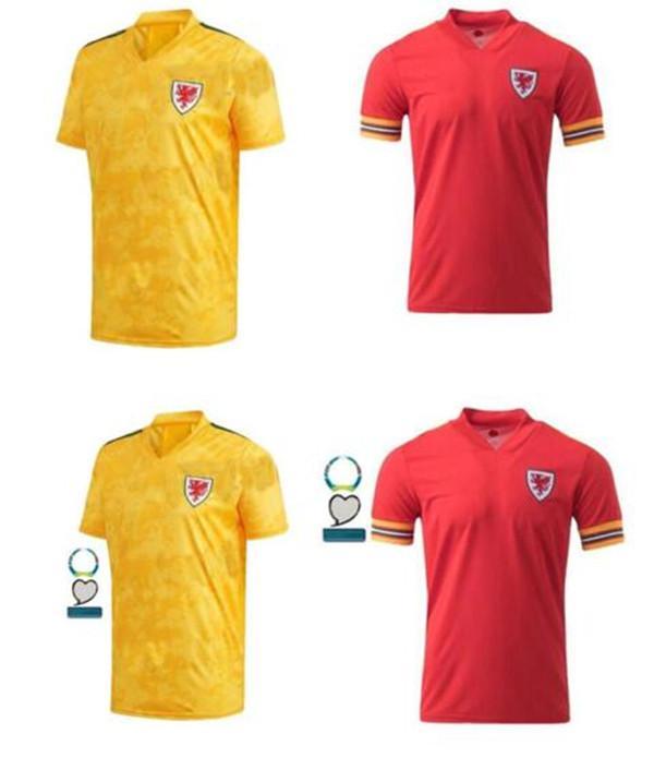 19 20 Euro Galler futbol forması Avrupa kupası BALYA ALLEN James Ben Davies Wilson milli takım ev KIRMIZI maillot futbol forması camisetas