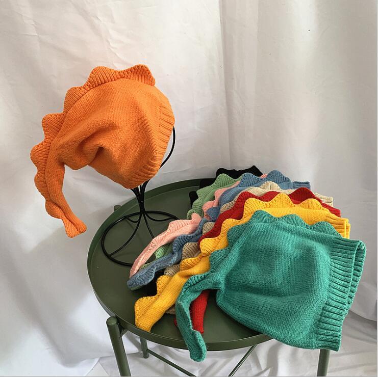Niños Dibujos animados Punto Sombreros Niños Cailar Larga Dinosaurio Baby Baby Fashion Newborn Hat Hat Otoño Invierno Niñas Niñas Cálidas Cálidas LSK1836