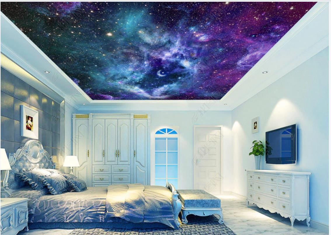 Custom photo ceiling mural wallpaper 3D zenith mural Fantasy universe starry sky living room bedroom sky ceiling zenith mural wall papers