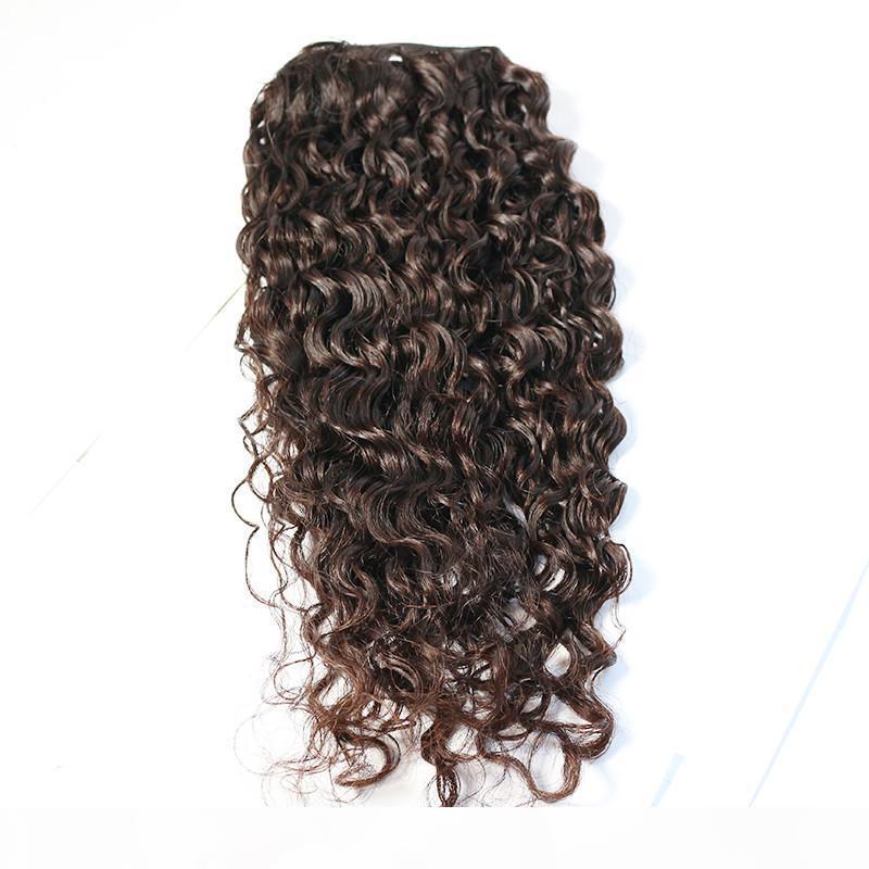 Die beliebtesten unverarbeiteten reinen Wasserwelle Menschenhaar 3 Bündel mit Verschluss für Frauen hochwertigen brasilianischen Haarpflegeprodukte Schönheit Haar