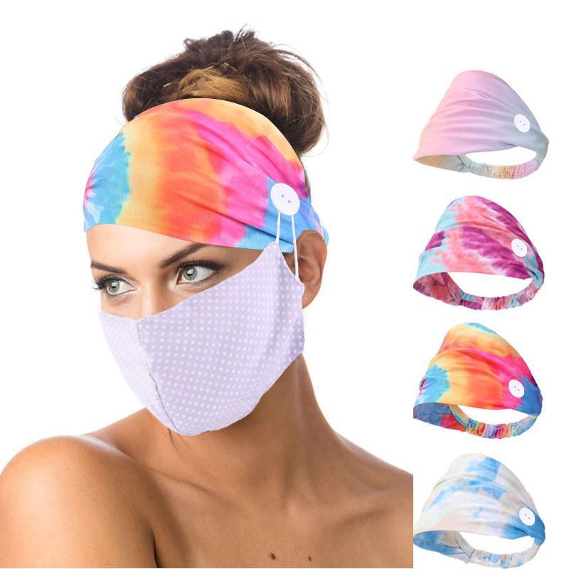 DHL de envío de la mascarilla de las vendas para el botón de las mujeres de las vendas de cubierta de la cabeza de la enfermera del oído Savers Turbante de Yoga Ejecución de pelo de la venda Kimter-B174F