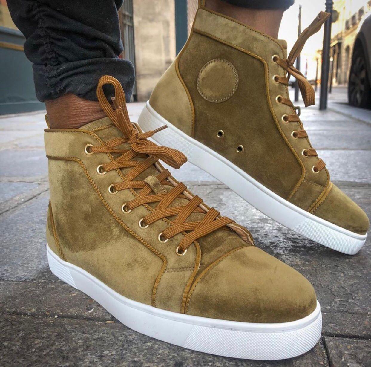 Ucuz Originals Gri, Beyaz, Siyah Süet Deri Sneakers Klasik Marka Erkekler Kadınlar Kırmızı Alt Ayakkabı Moda Man Kaykay Günlük Yürüyüş Ayakkabıları
