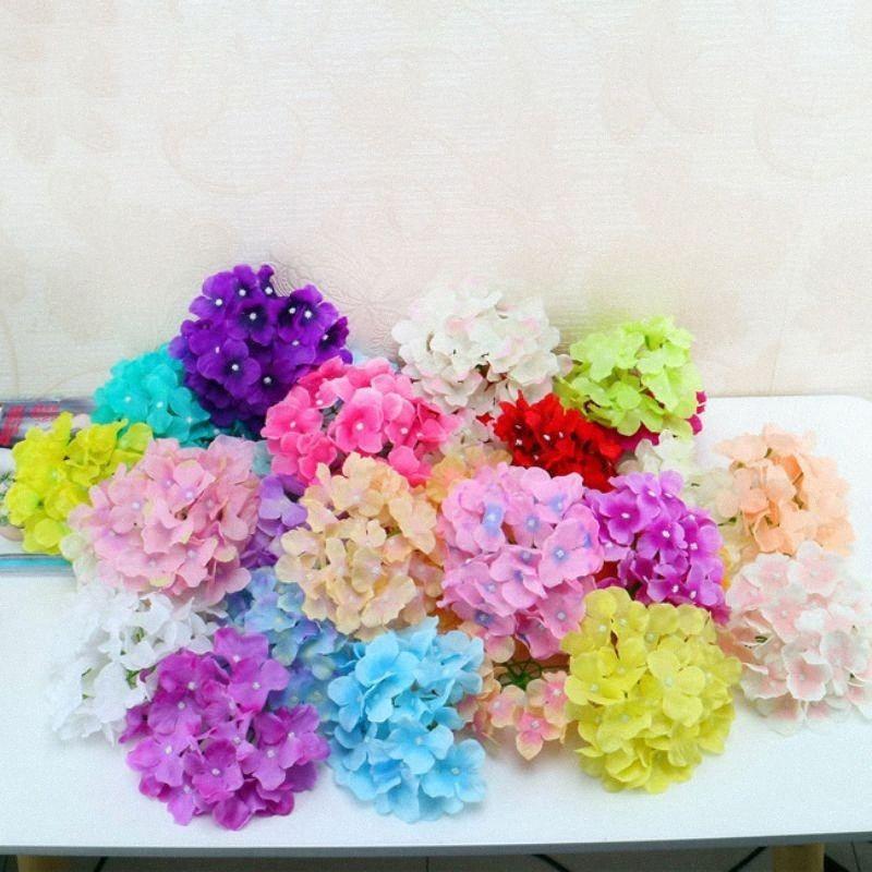 20pcs decorazione artificiale prop palla parete del fiore di nozze testa bouquet di nozze simulazione di seta fiore ortensia ortensia OYiW #