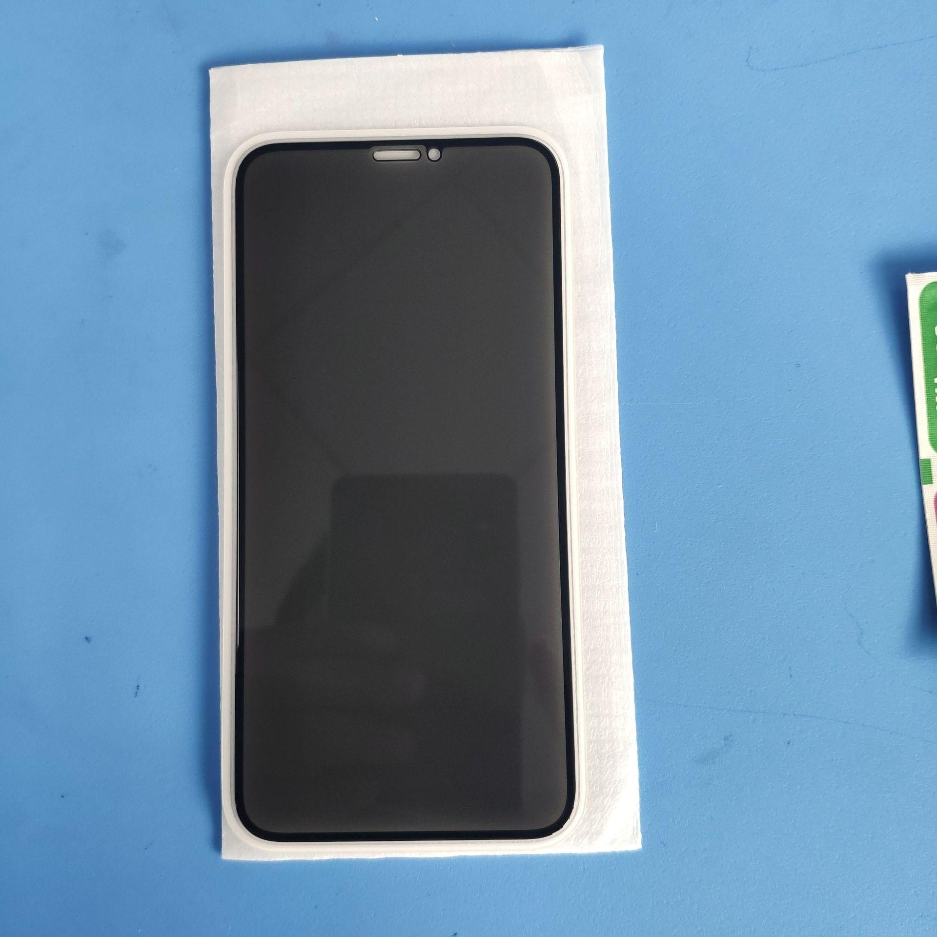 لIphone12 11 الموالية س XR XS ماكس 8 7 6 بالإضافة إلى خصوصية الشاشة الزجاج المقسى شاشة LCD حامي المضادة للتجسس فيلم الحرس غطاء درع التغطية الكاملة