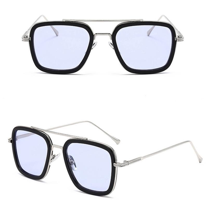 Cornice in metallo poligono da sole da sole da sole tendenza occhiali da sole colorati occhiali da sole da donna Q0121