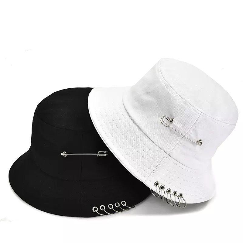 LUXURS-NUEVOS LLEGADOS Tiempo-Limitados Diseñadores Tiempo Limitados Primavera transfronteriza y otoño Nuevo Estilo Coreano Anillo Anillo Iron Hoop Pescador Hat