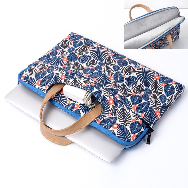 Высокое Качество Ноутбук Портфель Компьютерная сумка Ультратонкая Печать Цветок Китайский Стиль Сумка для ноутбука для MacBook Pro Воздушная Унисекс Сумочка Горячая распродажа