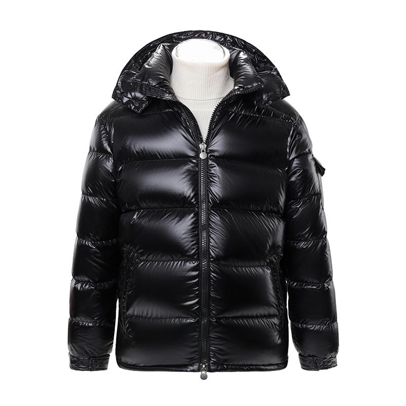 Mz Autumn Winter New Men's Jacket for Men and Women Lovers 90 Down Thickened Warm Detachable Hat Maya Bright Black Coat