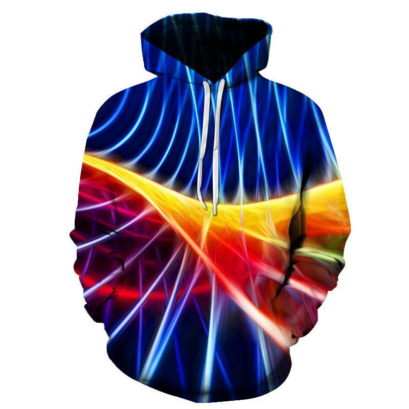 Геометрическая 3d Цифровая Печать Мужской Мужской Пуловер с длинным рукавом с длинным рукавом