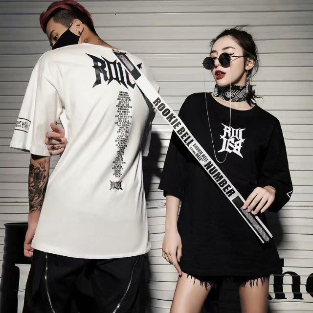 Летняя новая улица мода бренд хип-хоп письма свободная футболка с коротким рукавом для мужчин и женщин