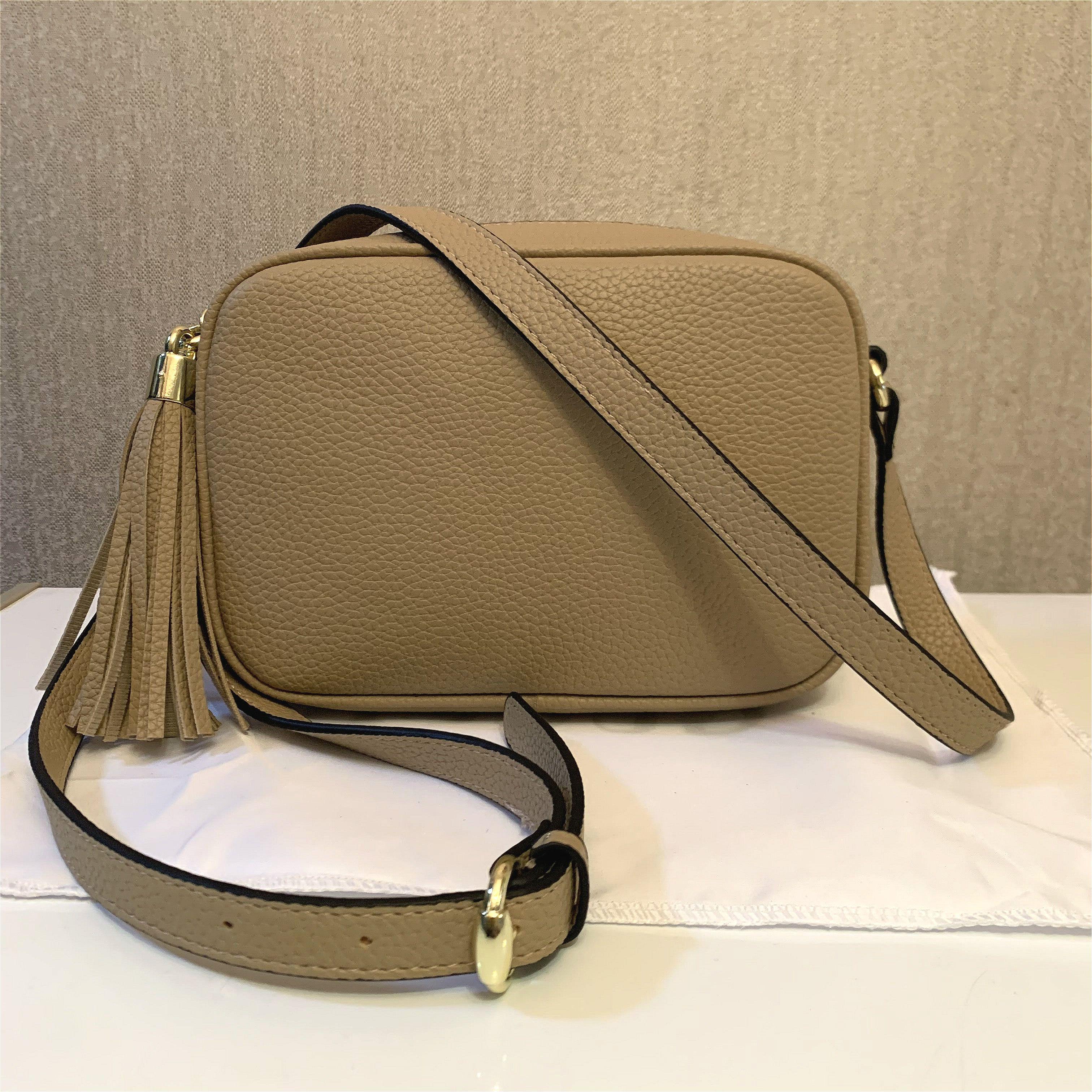 En kaliteli çanta cüzdan çanta kadın çanta çanta crossbody soho çanta disko omuz çantası saçaklı messenger çanta çanta 22 cm
