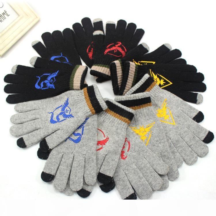 Team Mystic Valor Instinkt Handschuhe Winter Warme Touch Screen Handschuhe Fans Mode Geschenk Dropper Schiff 010083