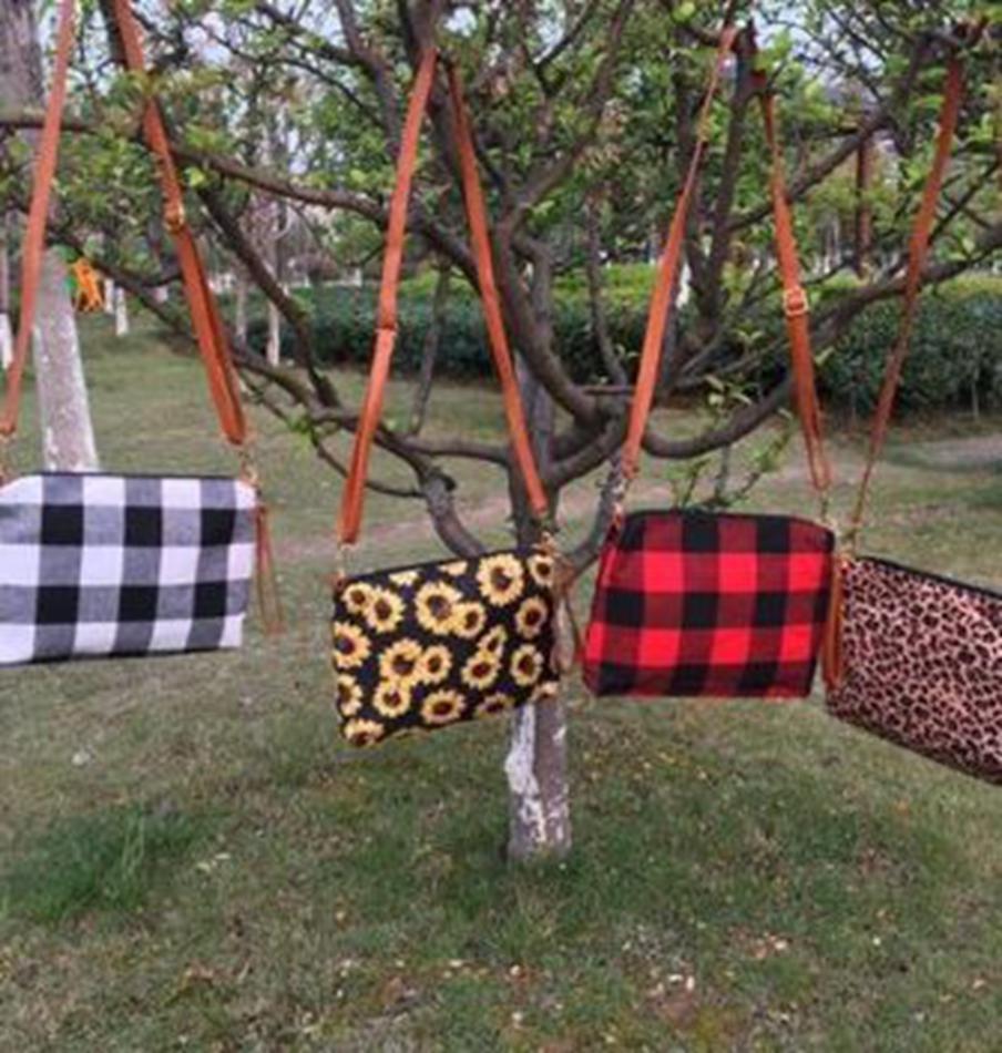 Plaid Crossbody Bag Women Buffalo Shoulder Handbag Clutch Purse Gift Plaid Shoulder Bag 4 colors KKA8125