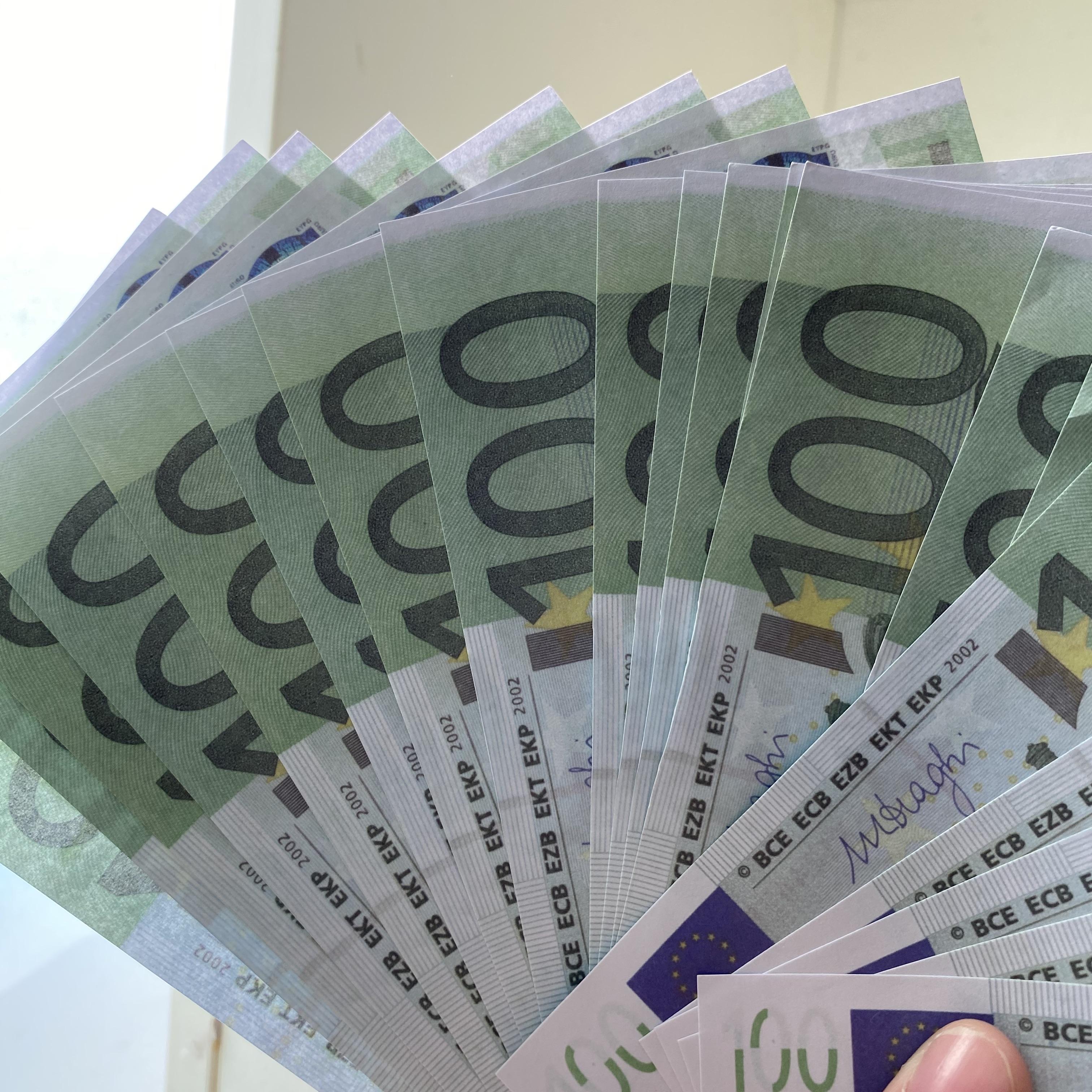 G01 2.020 euros de la novedad 100 Oro 24K Billetes en falso oro papel moneda de colección de billetes Euro conjuntos de juguetes