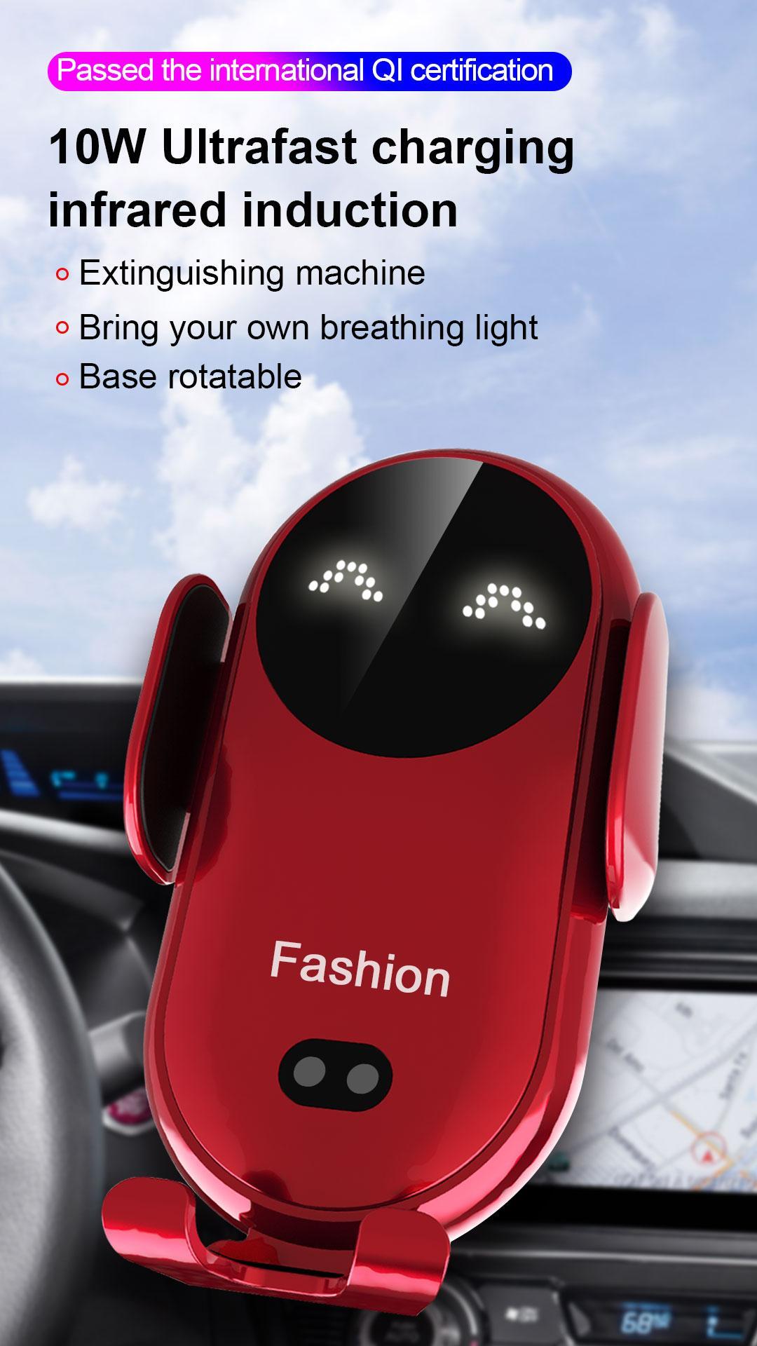 Smiley Chargeur sans fil Sensing Automatique pour ouvrir les armes Porte-téléphone mobile Sortie mobile 4 couleurs pour choisir