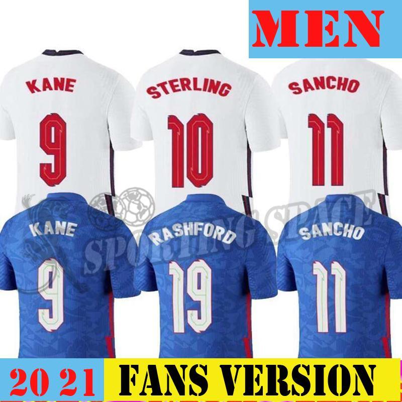 20 21 Englan Jersey 2021 Kane Sterling Vardy Rashford Dele Dele National Teams Camisa de Futebol Homens Uniformes