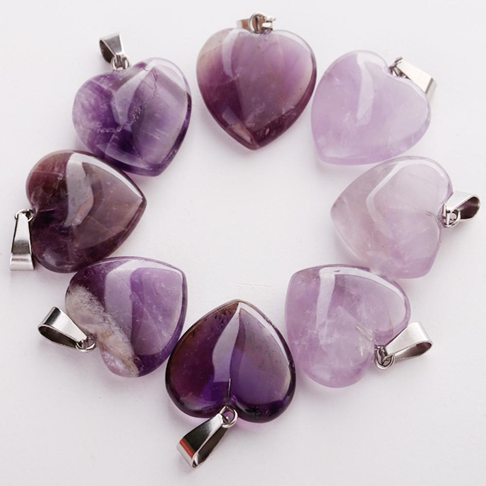Wholesale 50pcs/lot Fashion Natural Amethysts Stone Different Shape Beads Pendants DIY Jewelry Making for Women Free Shiping Q1113