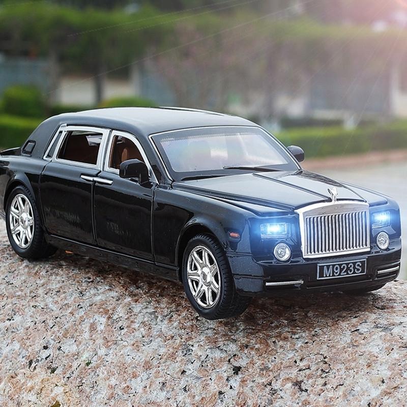 Liga 1:24 Rolls Royce Phantom Alongado Cohes Diecast Brinquedos Modelos Modelos Metal Carros Mini Menino Coleção Presente para Crianças Y200109