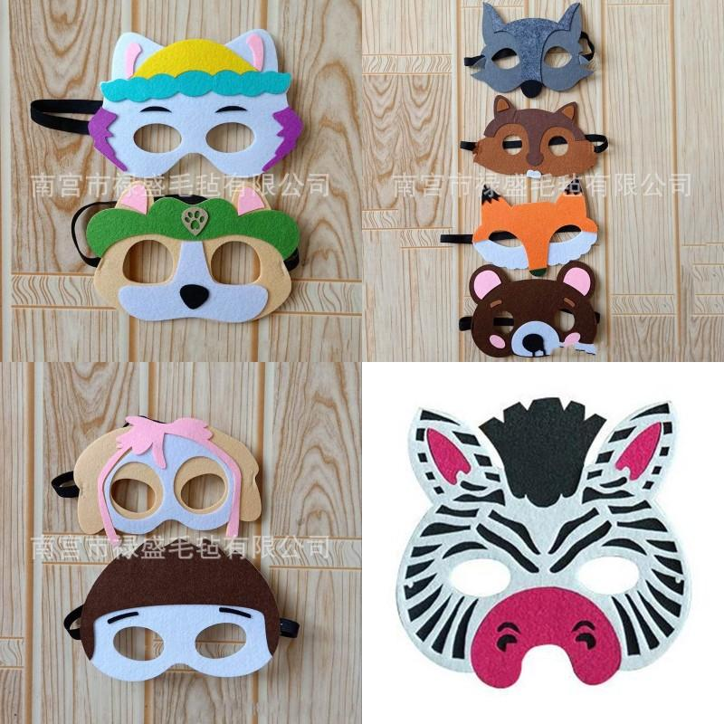 Felt Mask Multicolor Cartoon Modelling Masks Cat Bear Lovely Fox Mouse Patch High Quality With Various Style 1ls J1