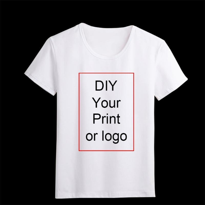 ropa para chicos LUSLOS personalizada impresa la camiseta de las mujeres del logotipo de bricolaje de fotos de chicas Top Tees Hombres camiseta de