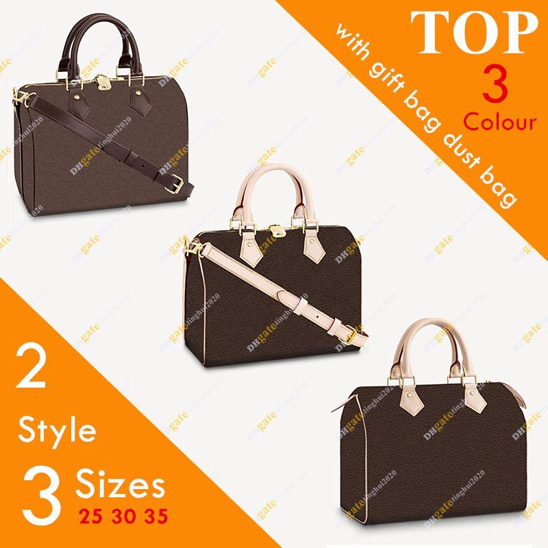 Ladies & Checkerboard Shoulder Bag Messenger 25 Bag Handbag Flower Boston Free M41112 Fashion/leisure Size 30 35 High-quality Shipp Arsss